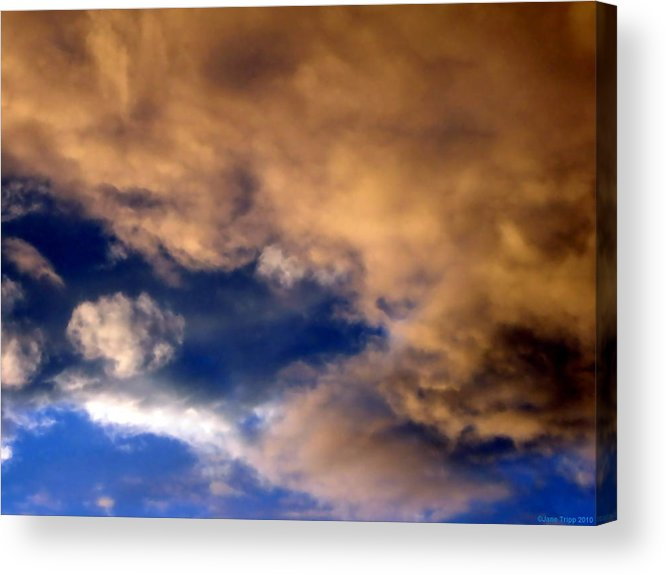 Impressionistic Sky Photograph Acrylic Print featuring the photograph Peach Sunday by Jane Tripp