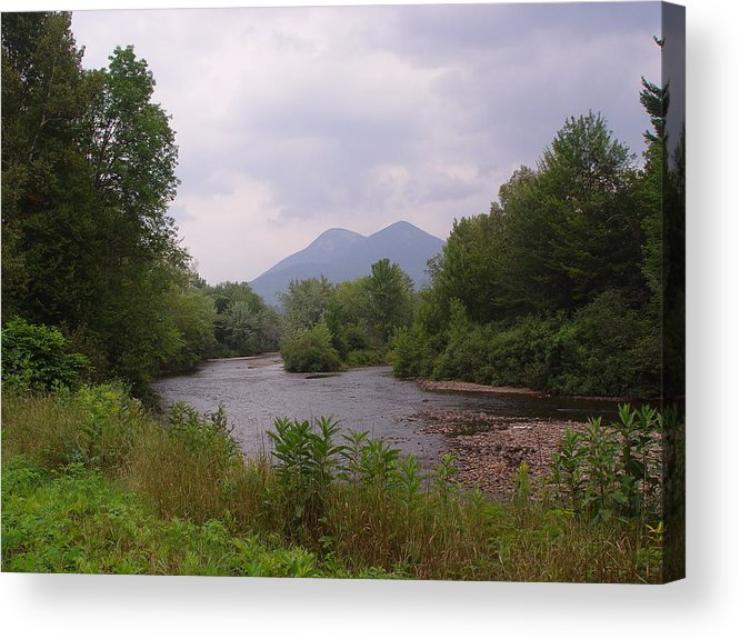 Percy Acrylic Print featuring the photograph Percy Peaks From Northside Rd by Dorothea Abbott