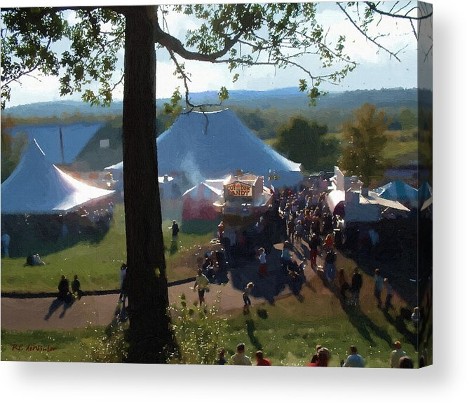 Afternoon Acrylic Print featuring the painting Perfect Fair Weather by RC DeWinter