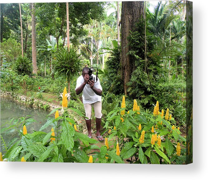 Jungle Acrylic Print featuring the photograph Photographer In The Jungle by Rosalie Scanlon