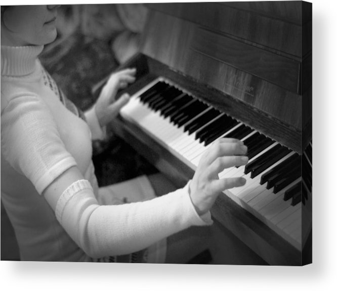 Piano Acrylic Print featuring the photograph Piano by Alexey Mikhaylov