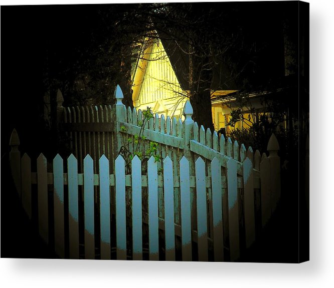 Fence Acrylic Print featuring the photograph Picket Fence by Michael L Kimble