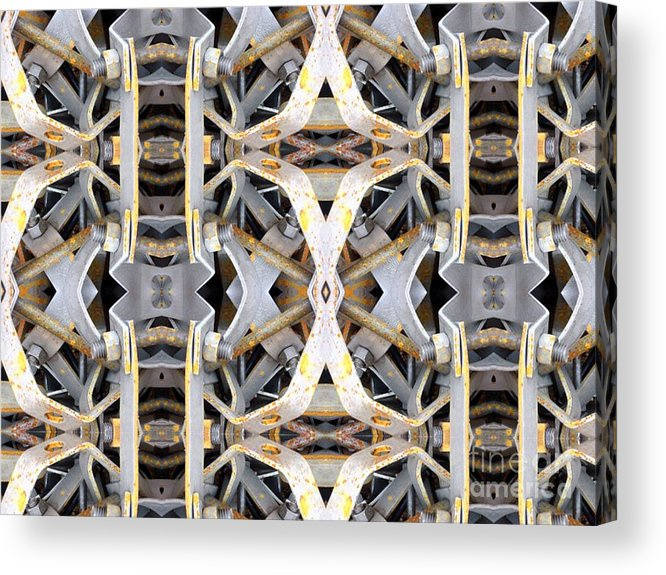 Abstract Acrylic Print featuring the digital art Pipe Hanger by Ron Bissett