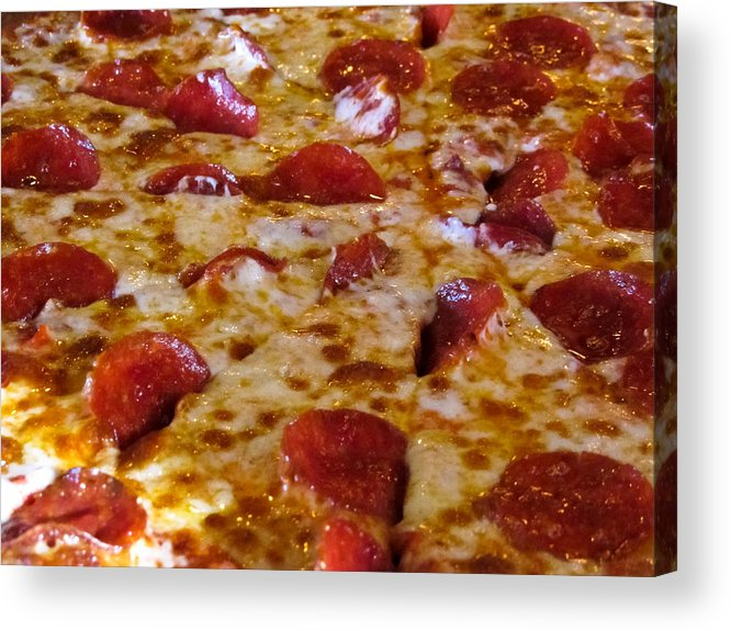 Asheville Acrylic Print featuring the photograph Pizza Pie by Allegory Imaging