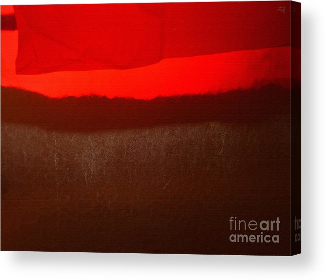 Red Acrylic Print featuring the photograph Poncho Abstract8 by Jeff Breiman