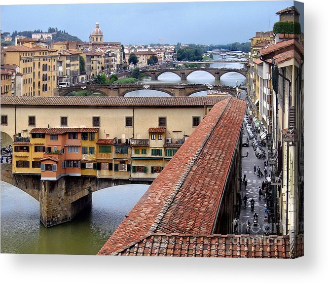 Ponte Acrylic Print featuring the photograph Ponte Vecchio From Uffizi        by Jennie Breeze