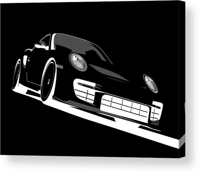 Porsche Acrylic Print featuring the digital art Porsche 911 Gt2 Night by Michael Tompsett