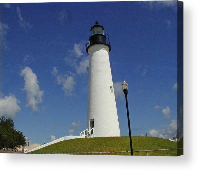 Port Isabel Acrylic Print featuring the photograph Port Isabel Lighthouse by Cathy P Jones