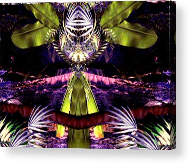 Portal New Abstract Unusual Acrylic Print featuring the digital art Portal by Bruce Fisher