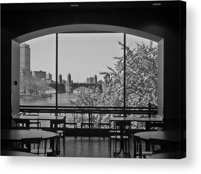 Window Acrylic Print featuring the photograph Portal To Spring by Nancy Ferrier