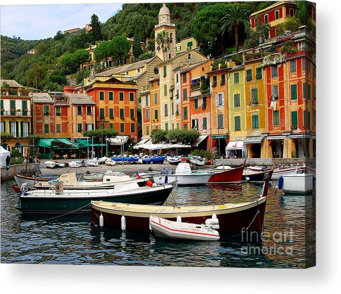 Portofino Acrylic Print featuring the photograph Portofino Italy by Nancy Bradley