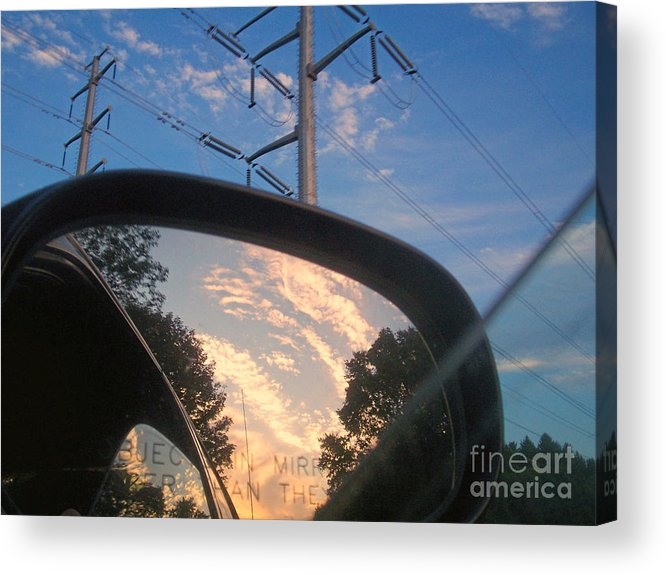 God Man Nature Energy Electricity Clouds Philosophy Acrylic Print featuring the photograph Power by Kristine Nora