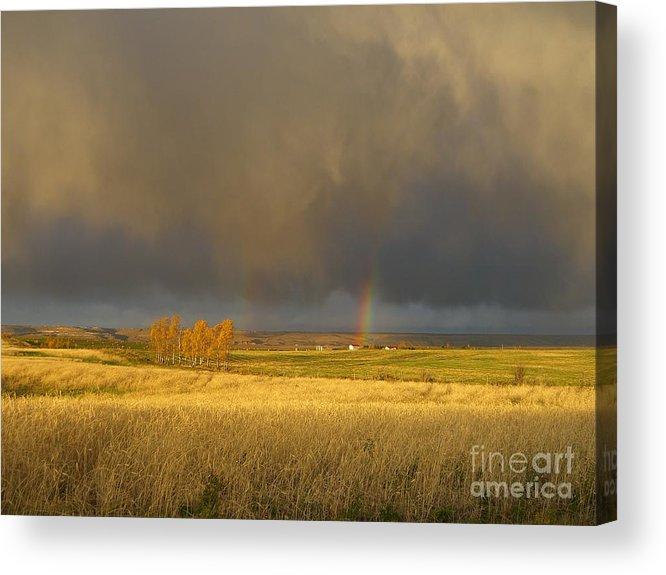 Alberta Acrylic Print featuring the photograph Prairie Sky by Jim Thomson