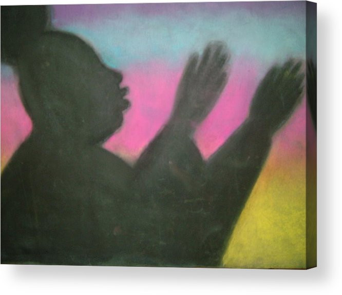 Drawing Acrylic Print featuring the drawing Praise Thy Name by Jan Gilmore