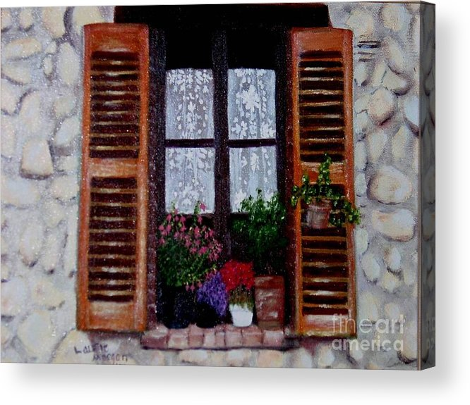 Provence Acrylic Print featuring the painting Provence Morning by Laurie Morgan