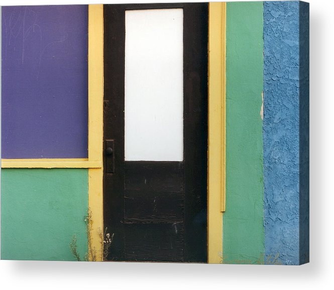 Weed Flower Urban Acrylic Print featuring the photograph Puerta De Los Angeles by Lawrence Costales