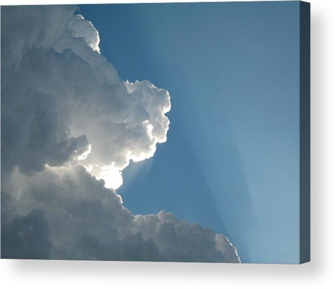 Clouds Acrylic Print featuring the photograph Puffy White Clouds by Liz Vernand