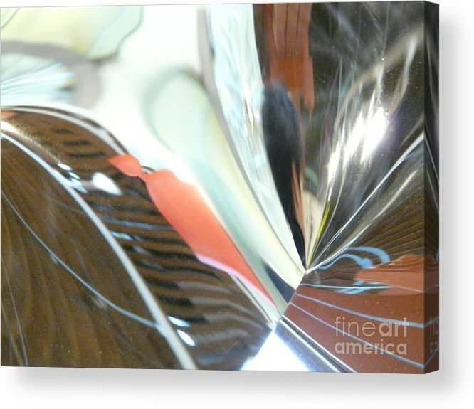 Abstract Acrylic Print featuring the photograph Radial Reflection 2 by Donna McLarty