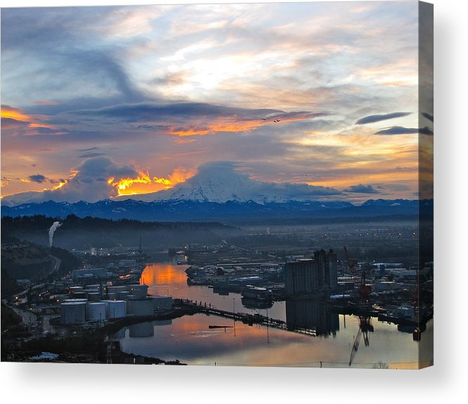 Mountain Acrylic Print featuring the photograph Rainier 14 by Sean Griffin