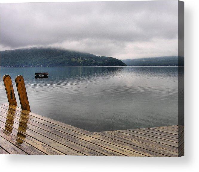 Keuka Lake Acrylic Print featuring the photograph Rainy Day Keuka by Steven Ainsworth