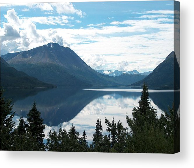 Tutchi Acrylic Print featuring the photograph Rare Moment On Tutchi Lake by Janet Hall