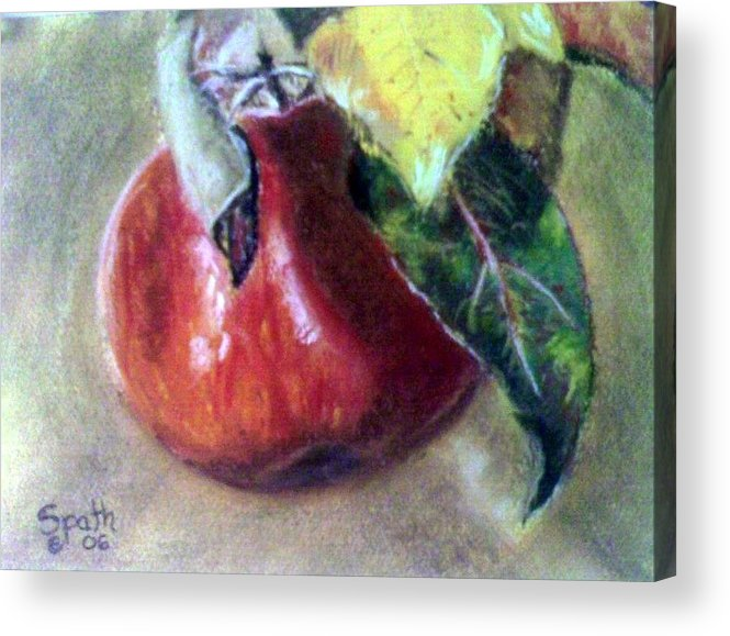 Fruit Acrylic Print featuring the painting Red Apple by Jack Spath