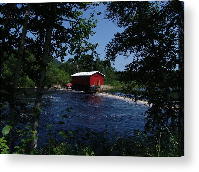 Red Dam Acrylic Print featuring the photograph Red Dam In Summer #2 by Dorothea Abbott