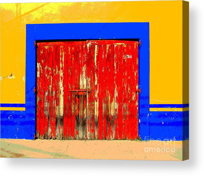 Darian Day Acrylic Print featuring the photograph Red Door By Darian Day by Mexicolors Art Photography