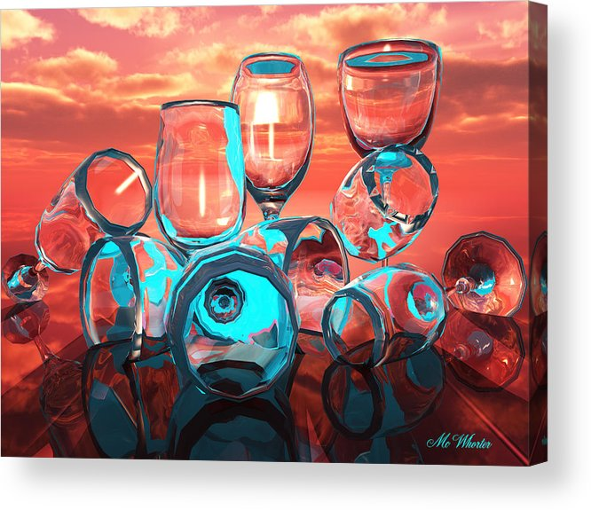 3d Acrylic Print featuring the painting Merlot by Williem McWhorter