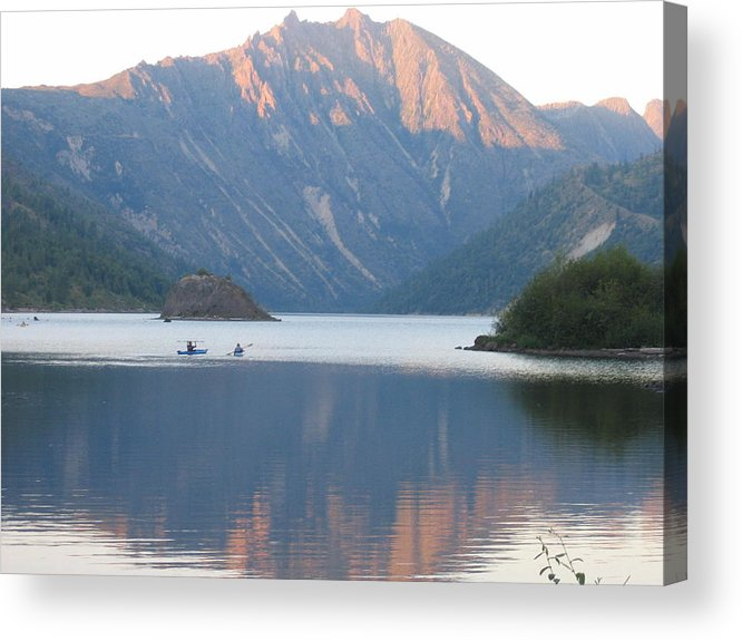 Acrylic Print featuring the digital art Reflection by Barb Morton