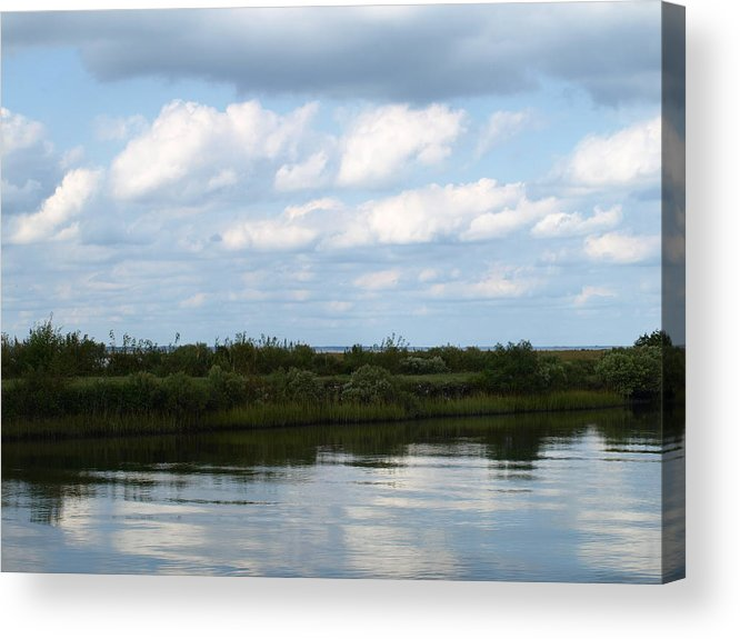 Thoughts Acrylic Print featuring the painting Reflection Thoughts by Kim
