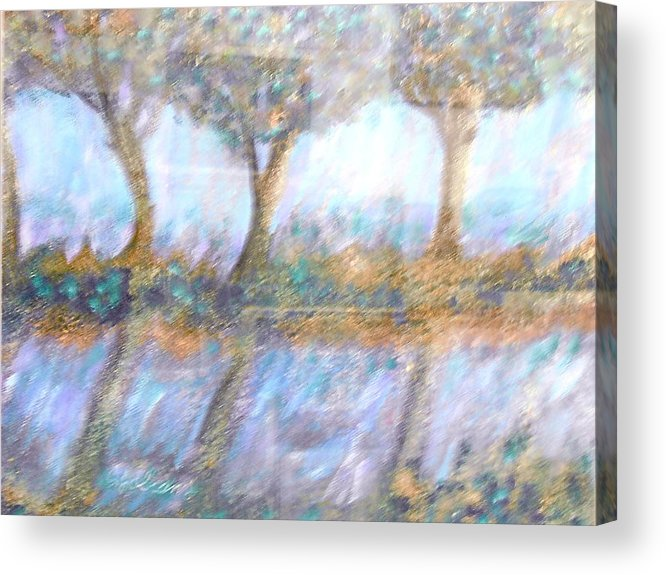 Abstract Acrylic Print featuring the painting Reflections by BJ Abrams