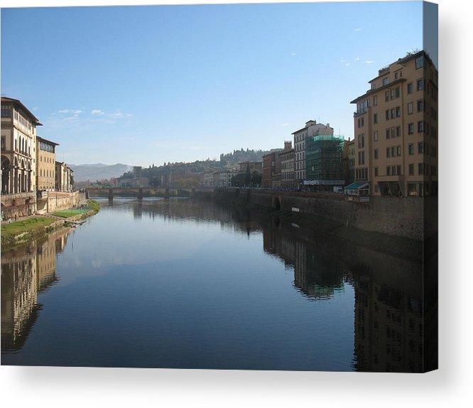 Florence Acrylic Print featuring the photograph Reflections Of Italy by Paul Shier