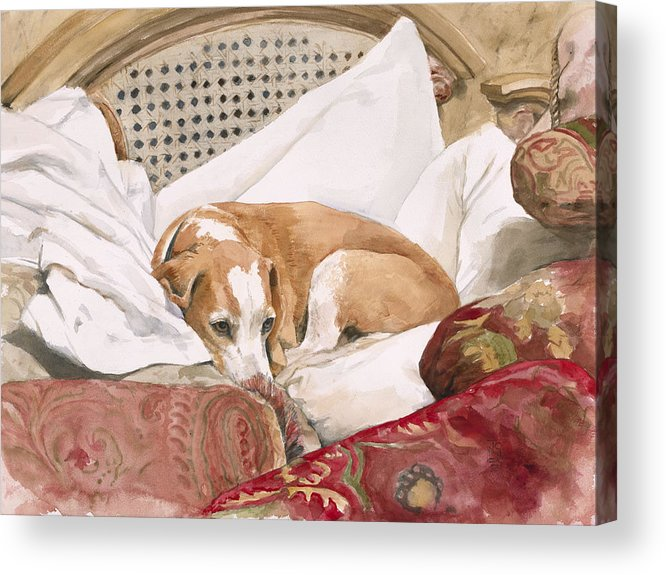 Dog Acrylic Print featuring the painting Regal Beagle by Debra Jones