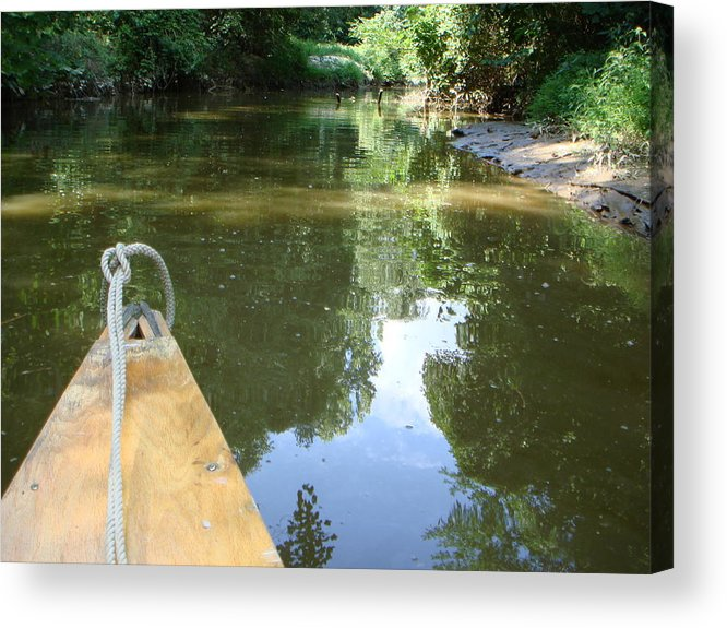 Canoe Acrylic Print featuring the photograph Right There With Me ... by PJ Cloud