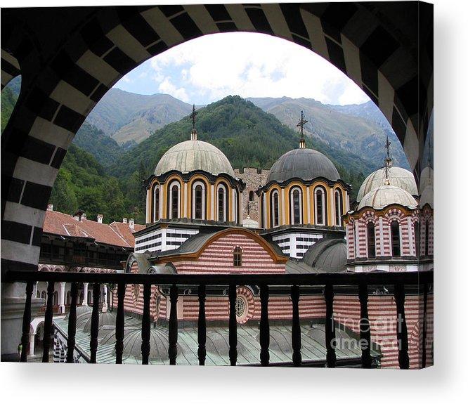Monastery Acrylic Print featuring the photograph Rila Monastery by Iglika Milcheva-Godfrey