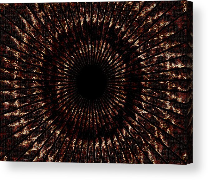 Fire Acrylic Print featuring the digital art Rings Of Fire by Charleen Treasures