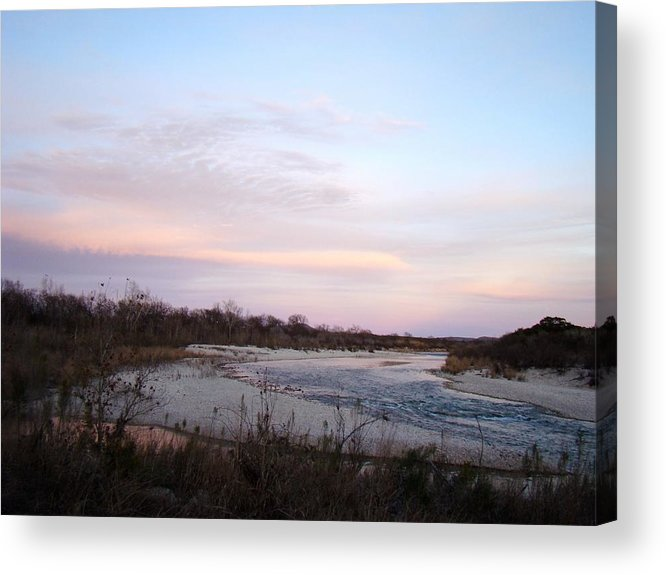 River Acrylic Print featuring the photograph River At Dusk One by Ana Villaronga