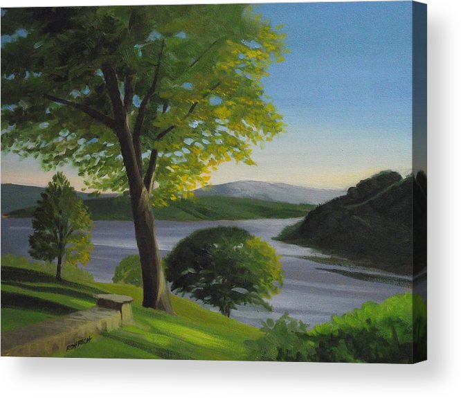 Landscape Acrylic Print featuring the painting River Bend by Robert Rohrich