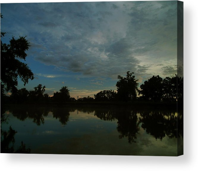 Spring River Miami Acrylic Print featuring the photograph River Sunrise 1 by Kareem Farooq