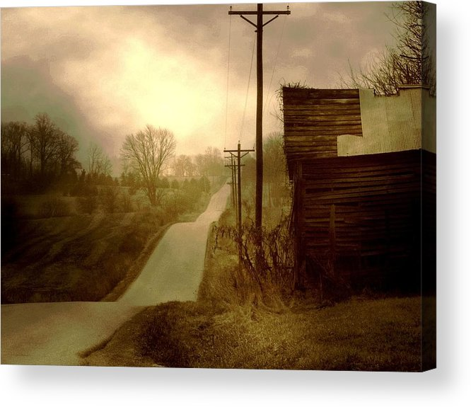 Fine Art Photograph Acrylic Print featuring the photograph Road To Smalley Lake by Michael L Kimble
