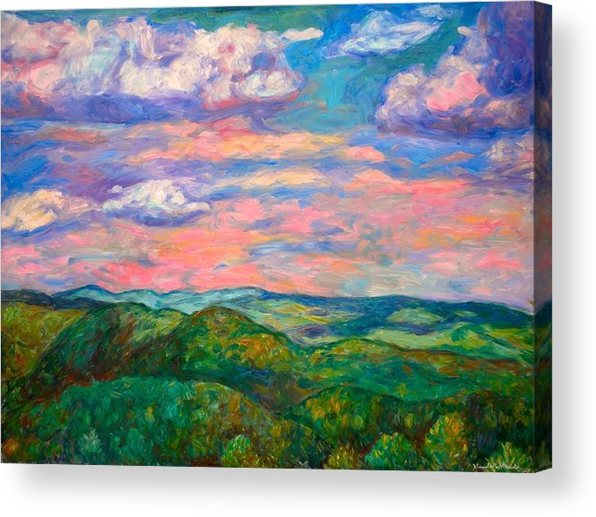Landscape Paintings Acrylic Print featuring the painting Rock Castle Gorge by Kendall Kessler