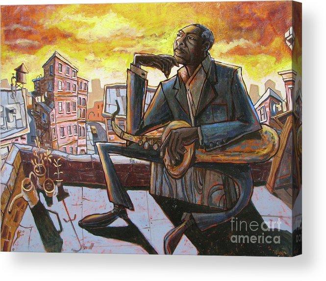 John Acrylic Print featuring the painting Roof Trane by Sean Hagan