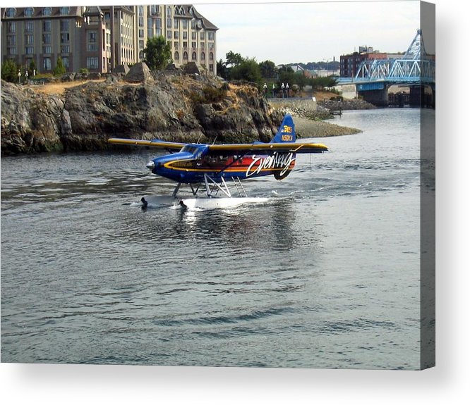 Sea Acrylic Print featuring the photograph Runway On Water by Bob Gardner