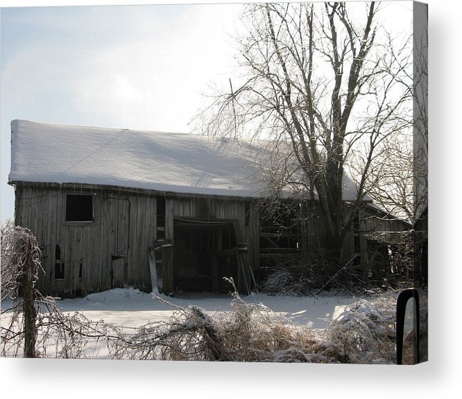 Landscape Acrylic Print featuring the photograph Rustic Old Barn by Martie DAndrea