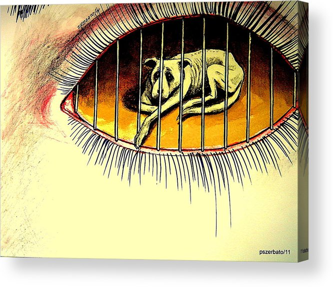 Sad Points Of View Acrylic Print featuring the digital art Sad Points Of View by Paulo Zerbato