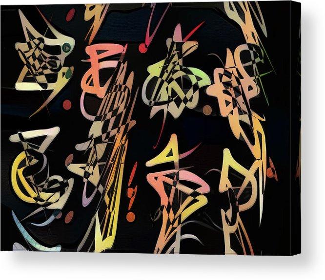 Jazz Acrylic Print featuring the digital art Saeta by Philip Openshaw