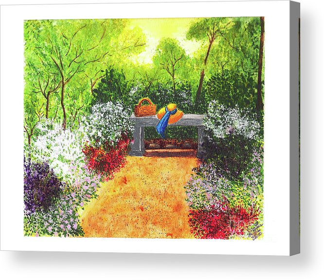 Garden Painting Acrylic Print featuring the painting Sanctuary by Patricia Griffin Brett