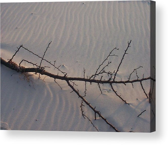 White Sand Acrylic Print featuring the photograph Sand Ripples by Kenna Westerman