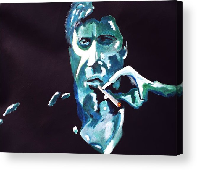 Al Pacino Acrylic Print featuring the painting Scarface by Colin O neill